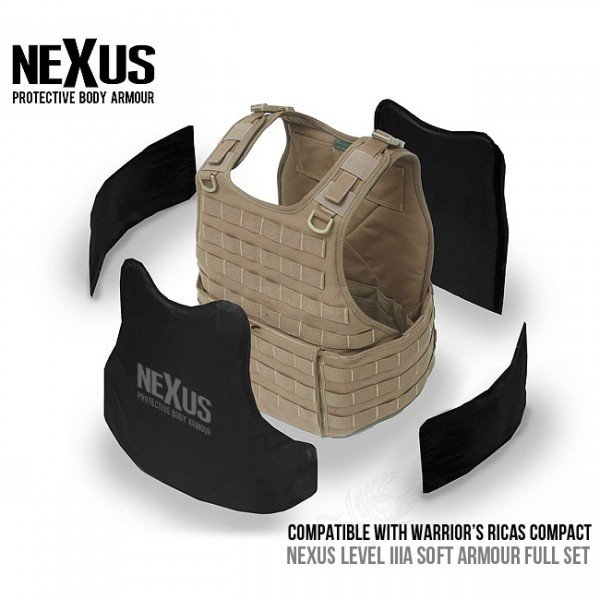 NEXUS RICAS NIJ Level IIIA Soft Armour Front Back & Sides Set