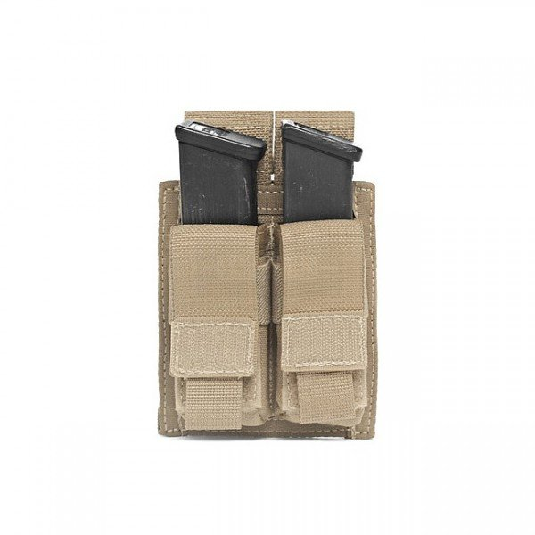 Warrior Double 9mm Pistol Magazine Pouch - Coyote