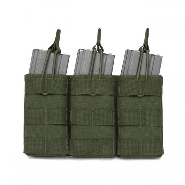 Warrior Triple M4 Open Magazine Pouch - Olive