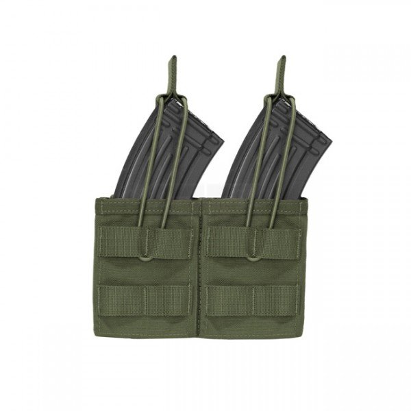 Warrior Double AK / SIG 550 Open Magazine Pouch - Olive