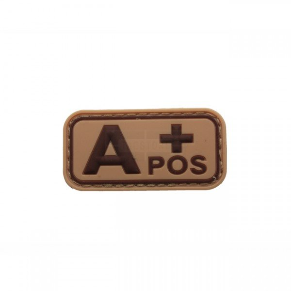 Pitchfork Blood Type A POS Patch - Tan