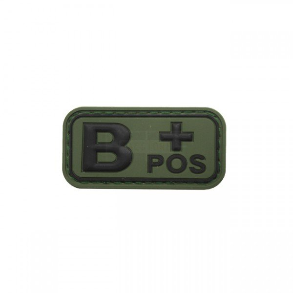 Pitchfork Blood Type B POS Patch - Olive