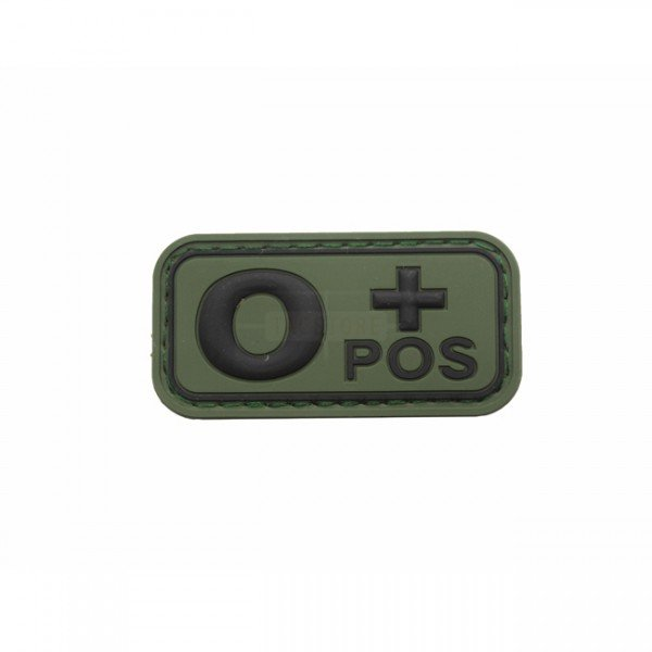 Pitchfork Blood Type O POS Patch - Olive