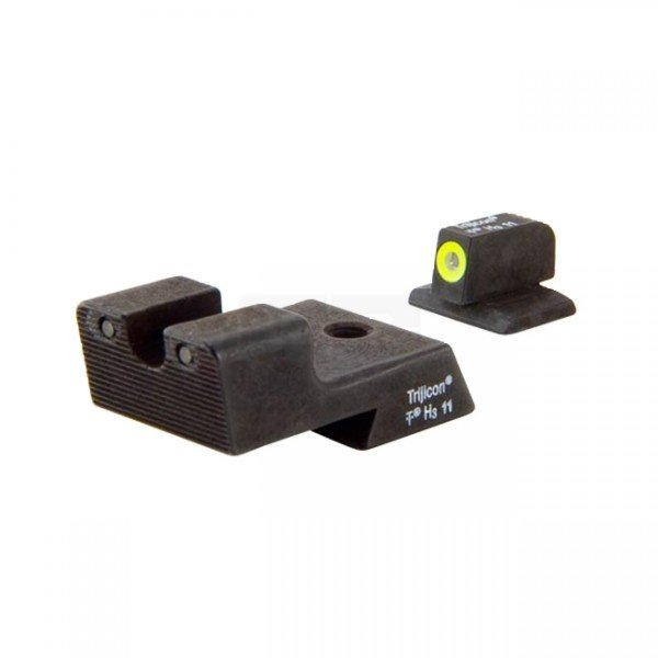 Trijicon CA128Y 1911 HD Night Sight Set - Yellow Front Outline