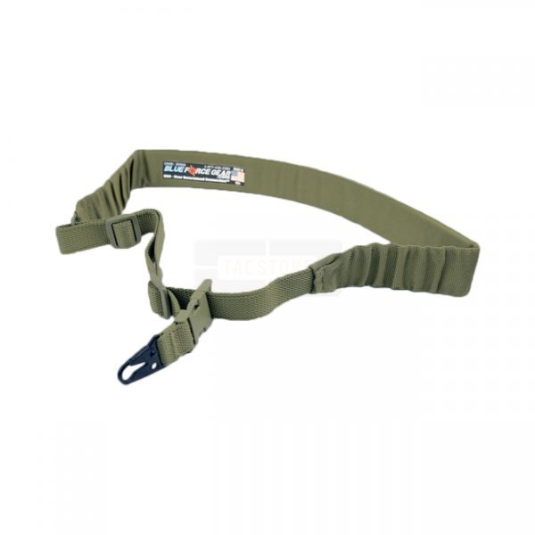Blue Force Gear UDC Padded Bungee Single Point Sling & Sling Snap Hook - Olive