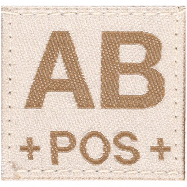 Clawgear AB Pos Bloodgroup Patch - Desert
