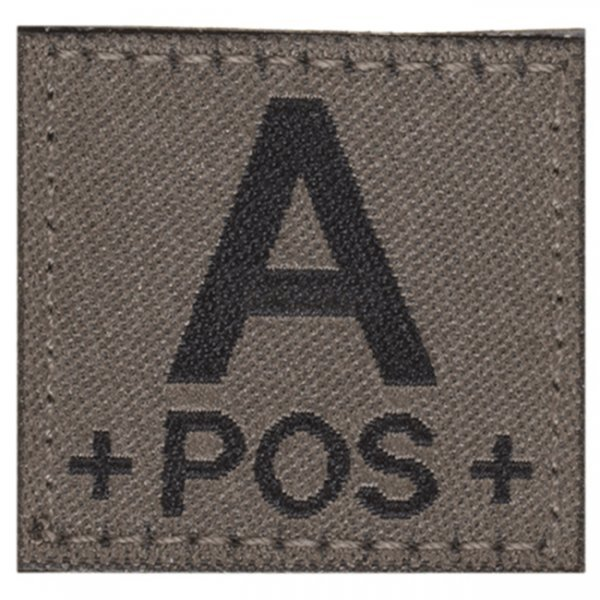 Clawgear A Pos Bloodgroup Patch - RAL7013
