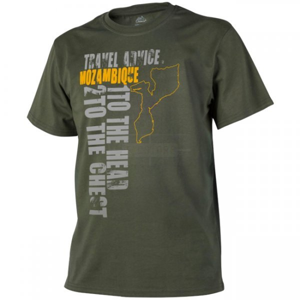 Helikon T-Shirt Travel Advice: Mozambique - Olive Green - S
