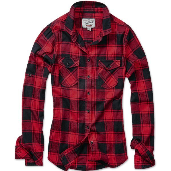 Brandit Amy Flanell Shirt Girls - Red / Black - M