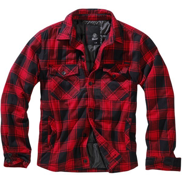 Brandit Lumberjacket - Red / Black - L
