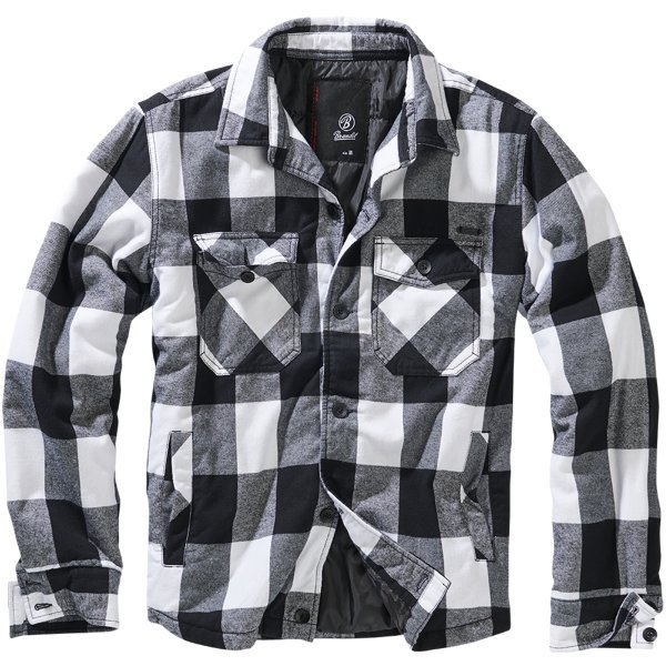 Brandit Lumberjacket - White / Black - 4XL