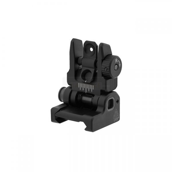 Leapers Accu-Sync Spring Loaded AR15 Flip-Up Rear Sight - Black