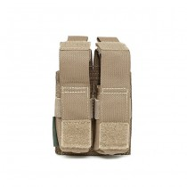 Warrior Double 9mm Pistol Magazine Pouch - Coyote 1