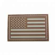 Pitchfork US Left IFF Flag Patch - Tan