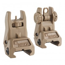 IMI Defense TFS Polymer Flip Up Sight Set - Tan