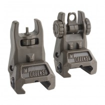 IMI Defense TFS Polymer Flip Up Sight Set - Olive