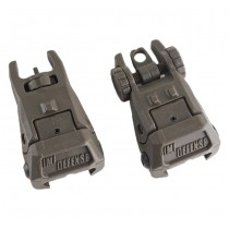 IMI Defense TFS Polymer Flip Up Sight Set - Olive 2