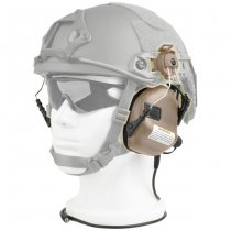 Earmor M31H Hearing Protection Ear-Muff Helmet Version - Coyote Tan