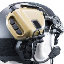 Earmor M32H MOD3 Tactical Hearing Protection Helmet Version Ear-Muff - Coyote Tan