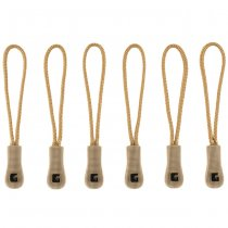 Clawgear CG Zipper Puller Medium 6-Pack - Coyote
