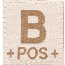 Clawgear B Pos Bloodgroup Patch - Desert