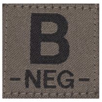 Clawgear B Neg Bloodgroup Patch - RAL7013