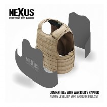 NEXUS Raptor NIJ Level IIIA Soft Armour Front & Back Set