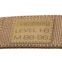 Clawgear Level 1-B Belt - Coyote - S
