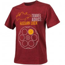 Helikon T-Shirt Travel Advice: Russian Luck - Melange Red - 3XL