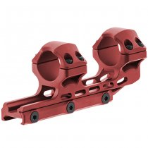 Leapers Accu-Sync 1 Inch High Profile 34mm Offset Mount - Red