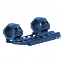 Leapers Accu-Sync 1 Inch High Profile 50mm Offset Mount - Blue