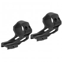 Leapers Accu-Sync 30mm High Profile 37mm Offset Rings - Black