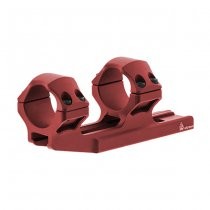 Leapers Accu-Sync 30mm Medium Profile 34mm Offset Mount - Red