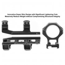 Leapers Accu-Sync 30mm Medium Profile 50mm Offset Mount - Black