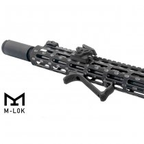 Leapers M-Lok Ultra Slim Angled Foregrip - Black