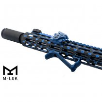 Leapers M-Lok Ultra Slim Angled Foregrip - Blue